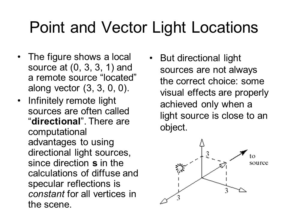Point and Vector Light Locations