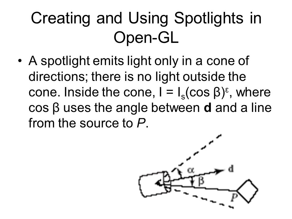 Creating and Using Spotlights in Open-GL