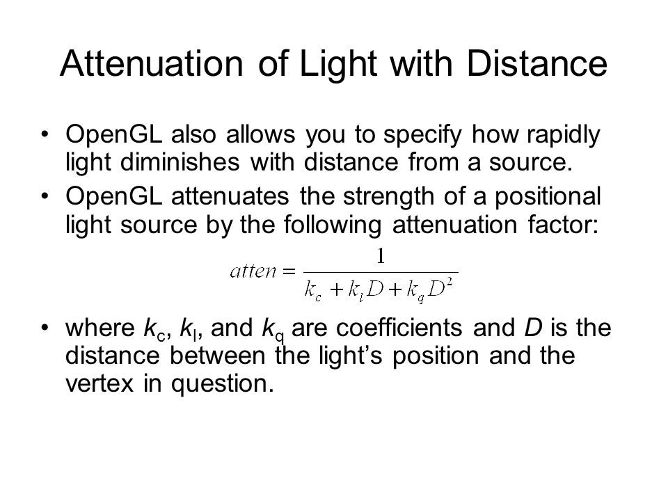 Attenuation of Light with Distance