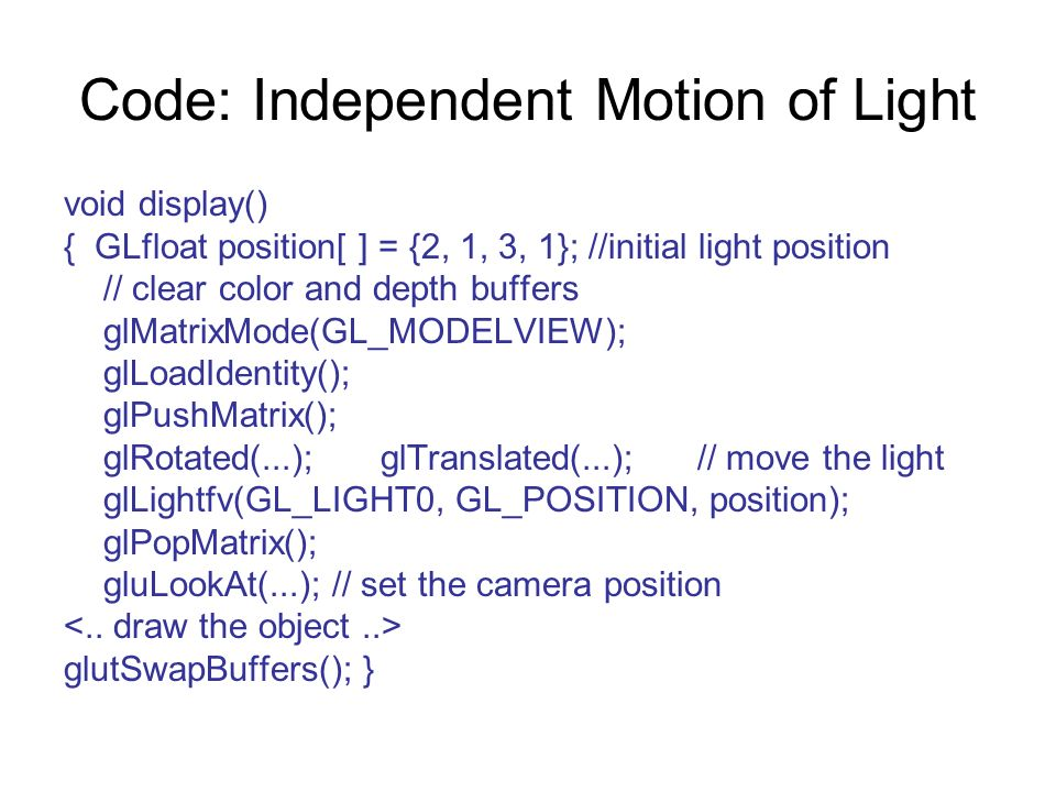 Code: Independent Motion of Light