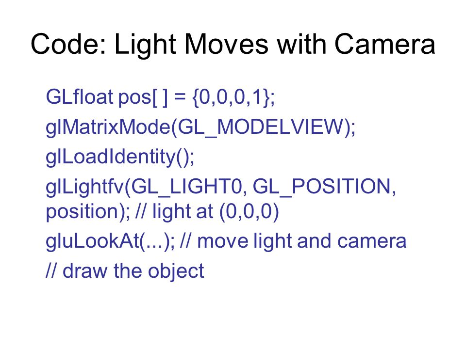 Code: Light Moves with Camera