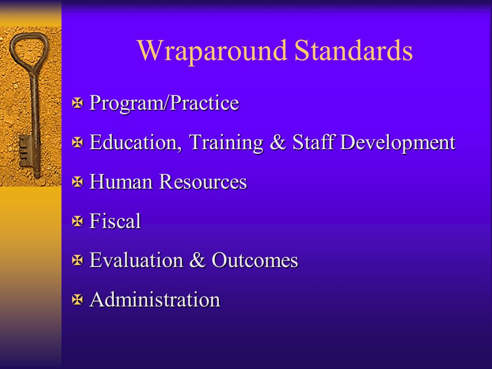 Wraparound Standards Program/Practice
