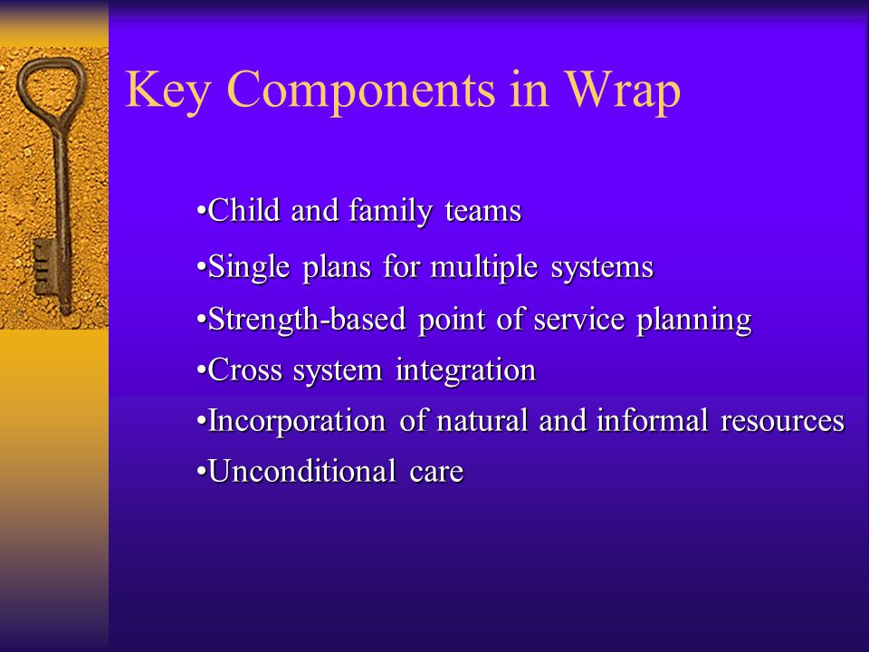Key Components in Wrap Child and family teams