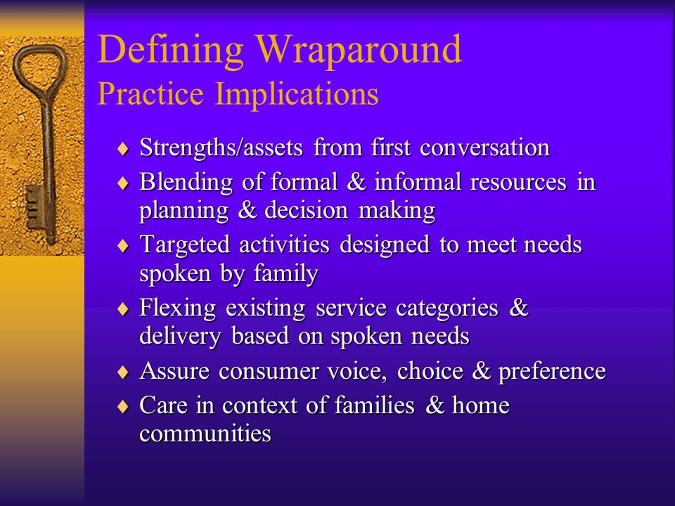 Defining Wraparound Practice Implications