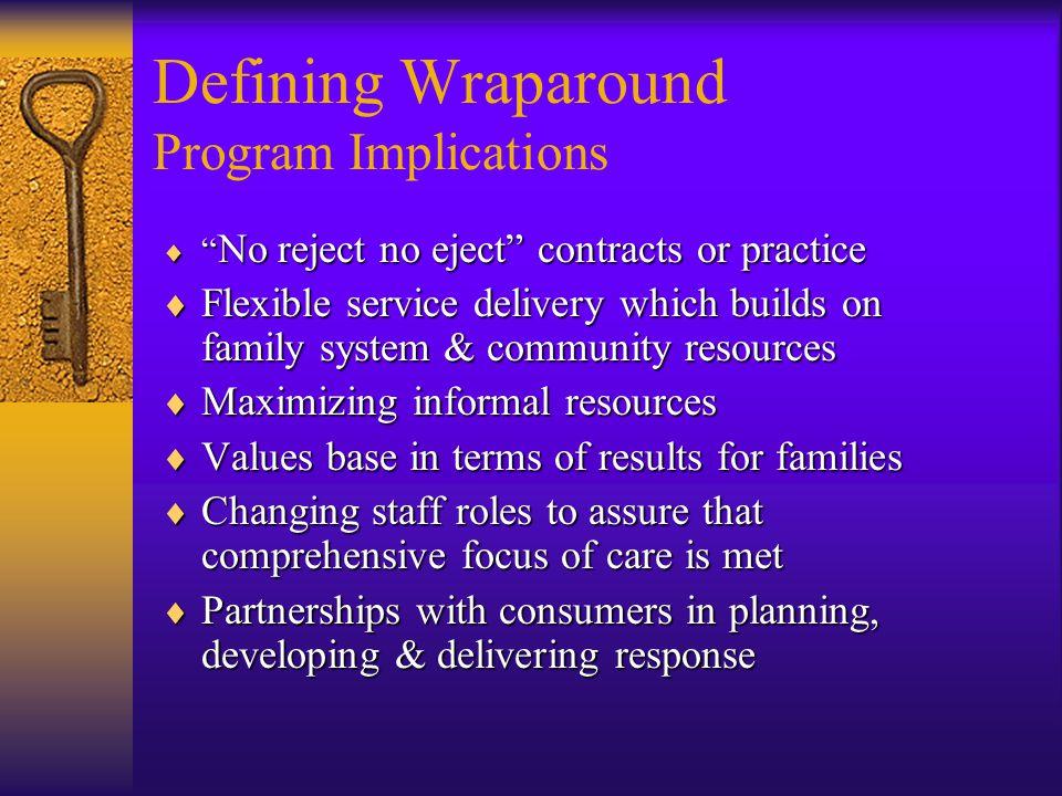 Defining Wraparound Program Implications