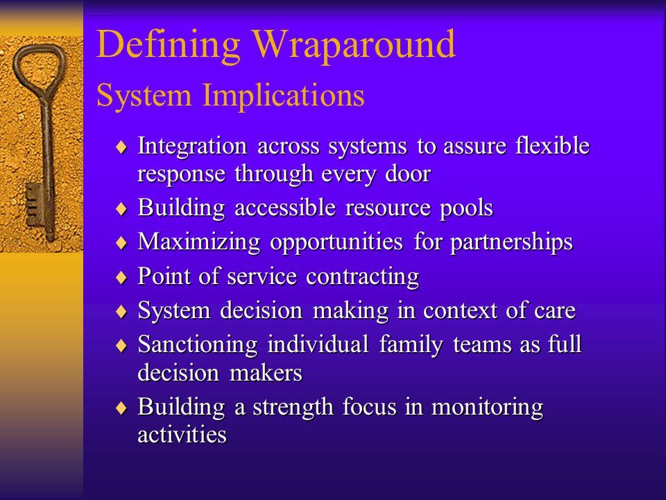 Defining Wraparound System Implications