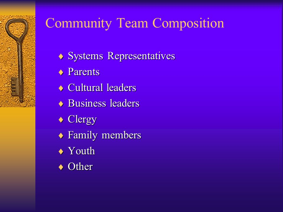 Community Team Composition