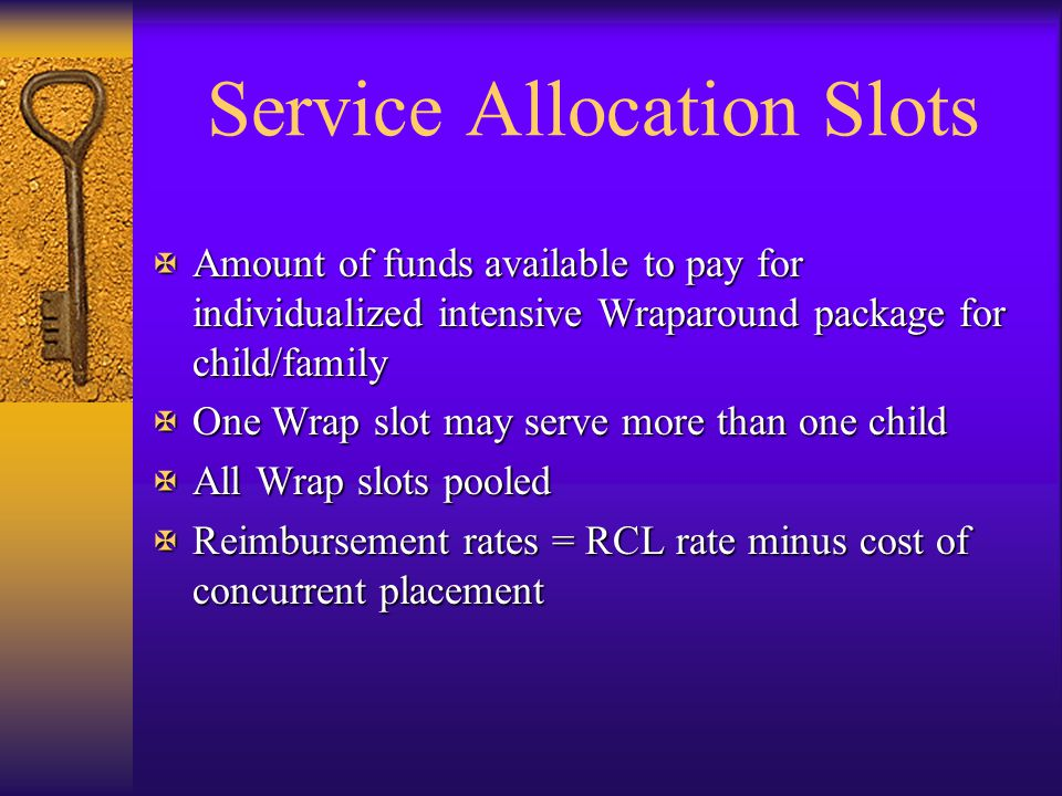 Service Allocation Slots