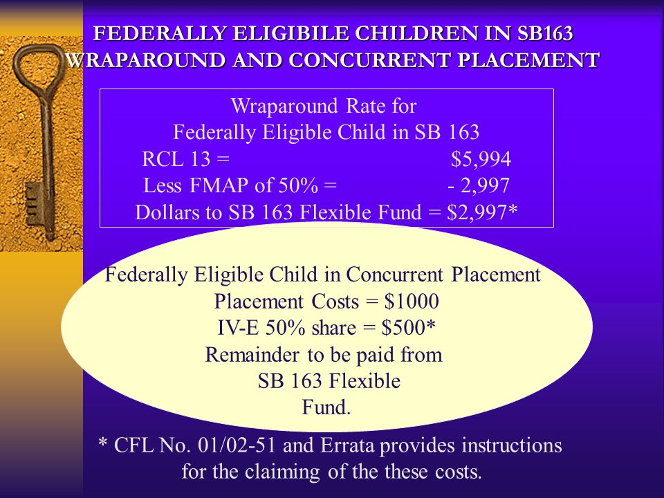 Federally Eligible Child in SB 163 RCL 13 = $5,994