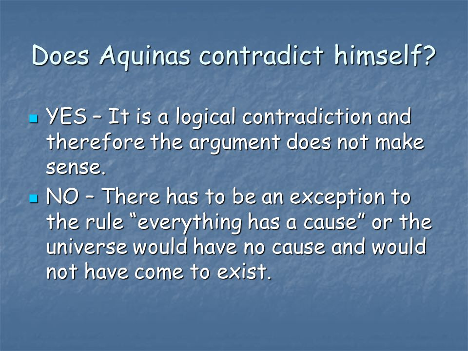 Does Aquinas contradict himself