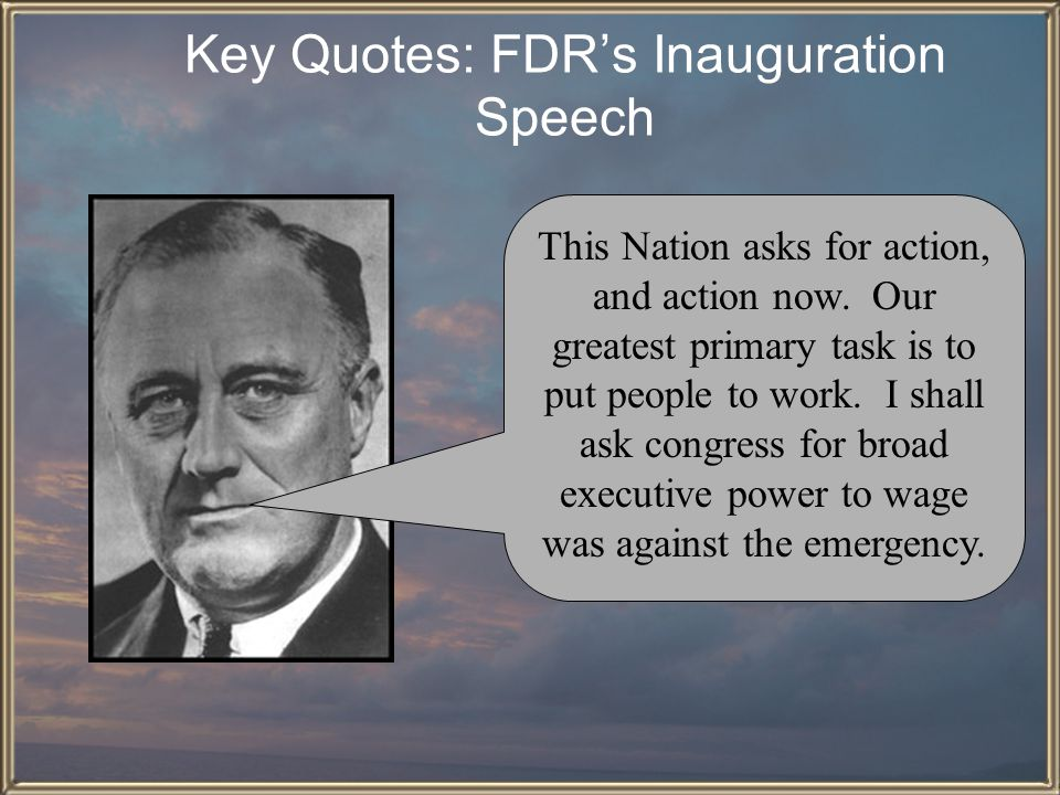 Key Quotes: FDR's Inauguration Speech