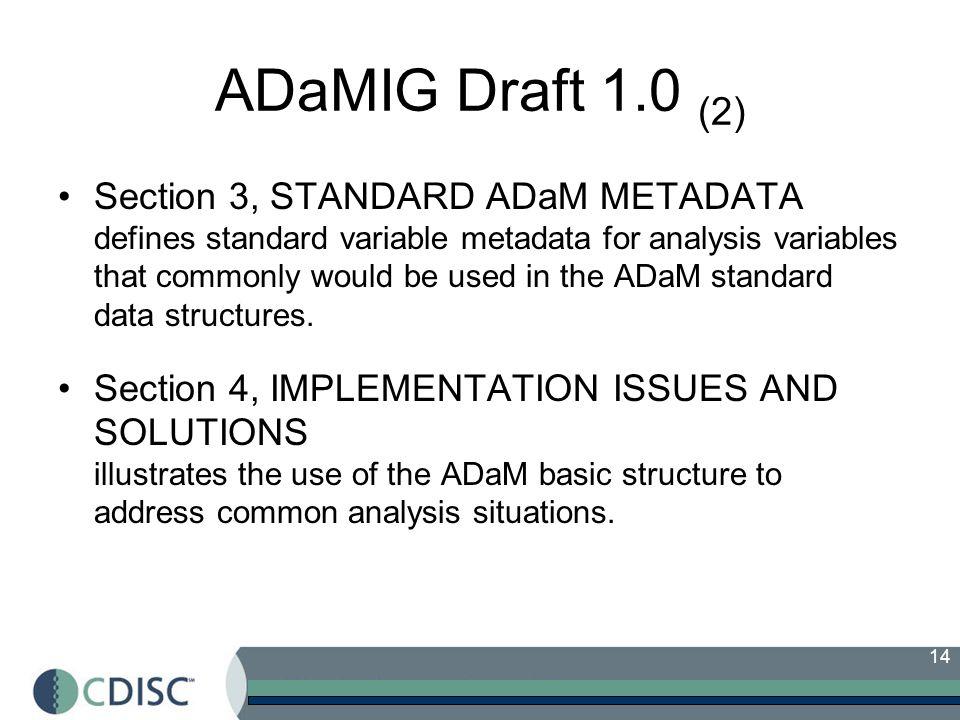 ADaMIG Draft 1.0 (2)