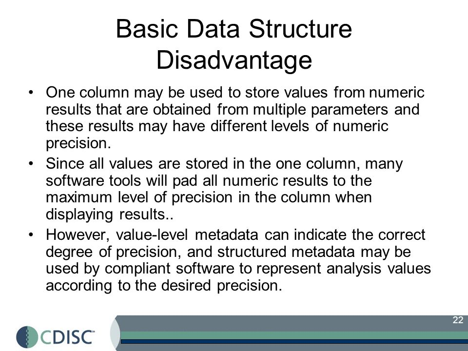 Basic Data Structure Disadvantage