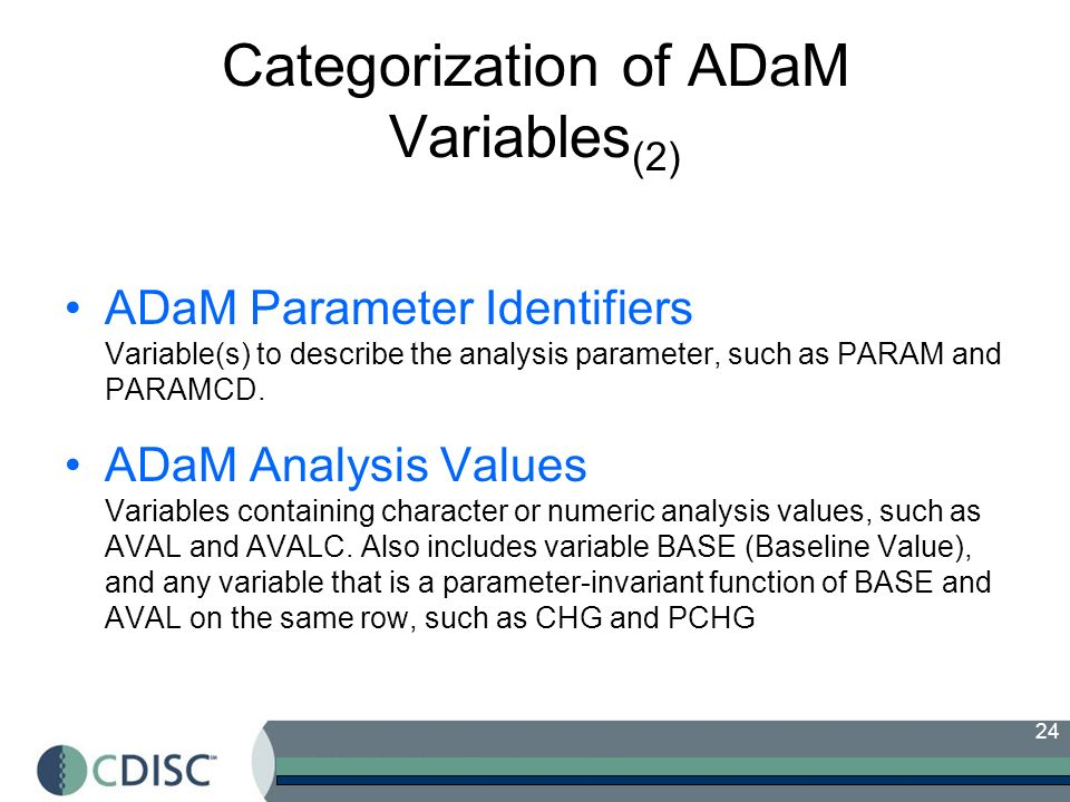 Categorization of ADaM Variables(2)