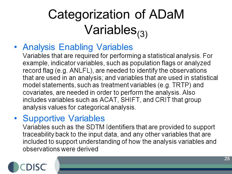 Categorization of ADaM Variables(3)
