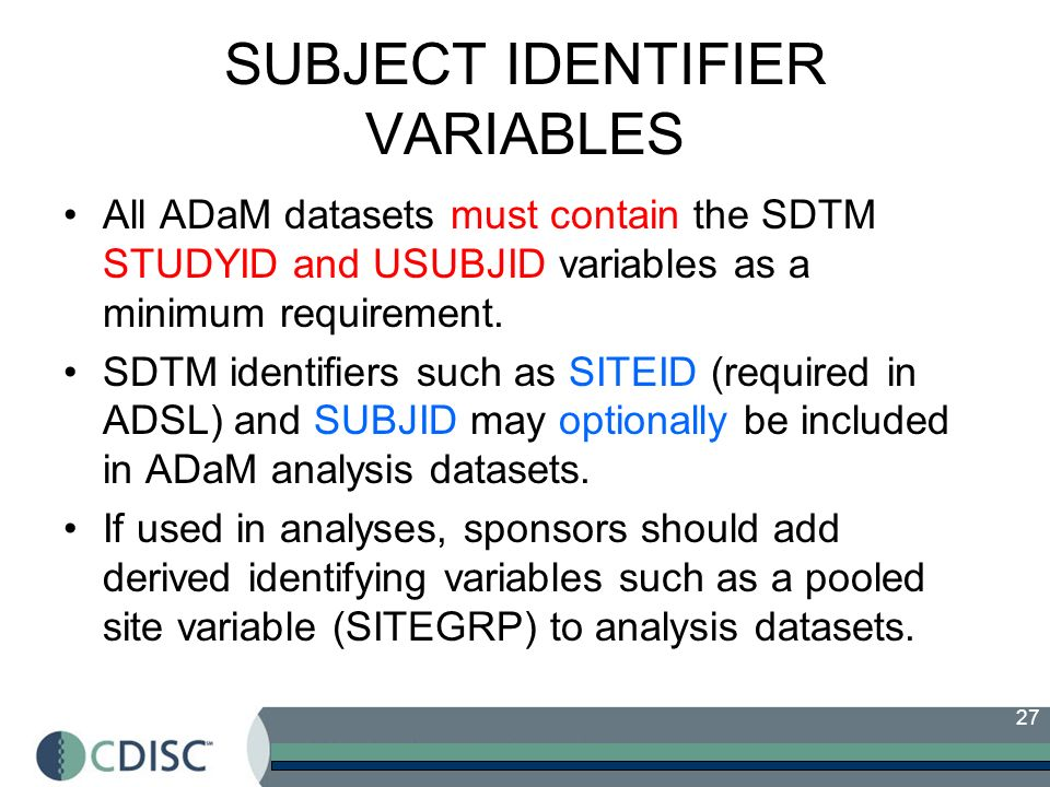 SUBJECT IDENTIFIER VARIABLES