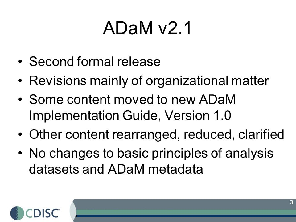 ADaM v2.1 Second formal release