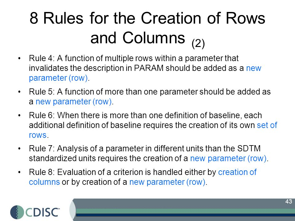 8 Rules for the Creation of Rows and Columns (2)