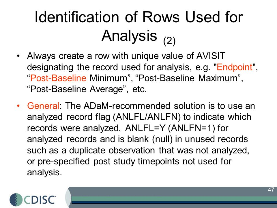 Identification of Rows Used for Analysis (2)