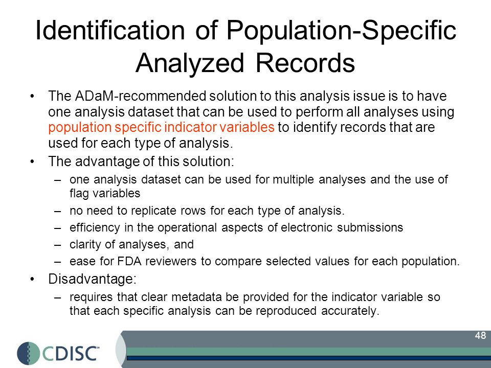 Identification of Population-Specific Analyzed Records