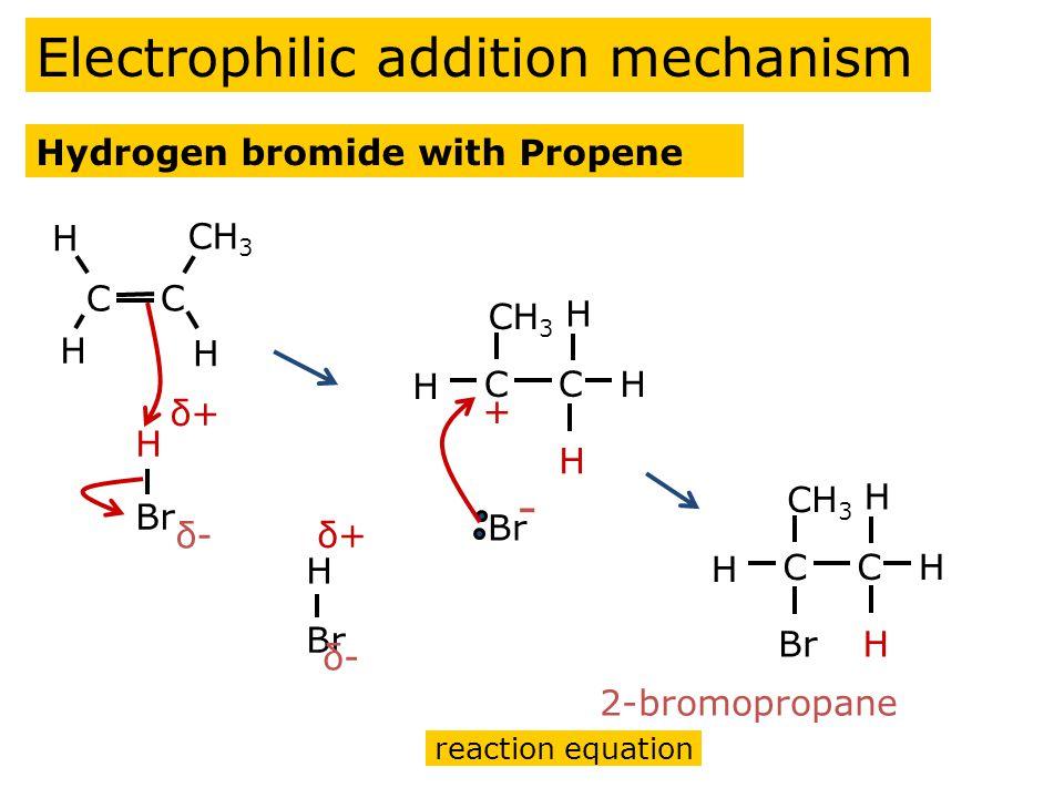 Hydrogen bromide with Propene