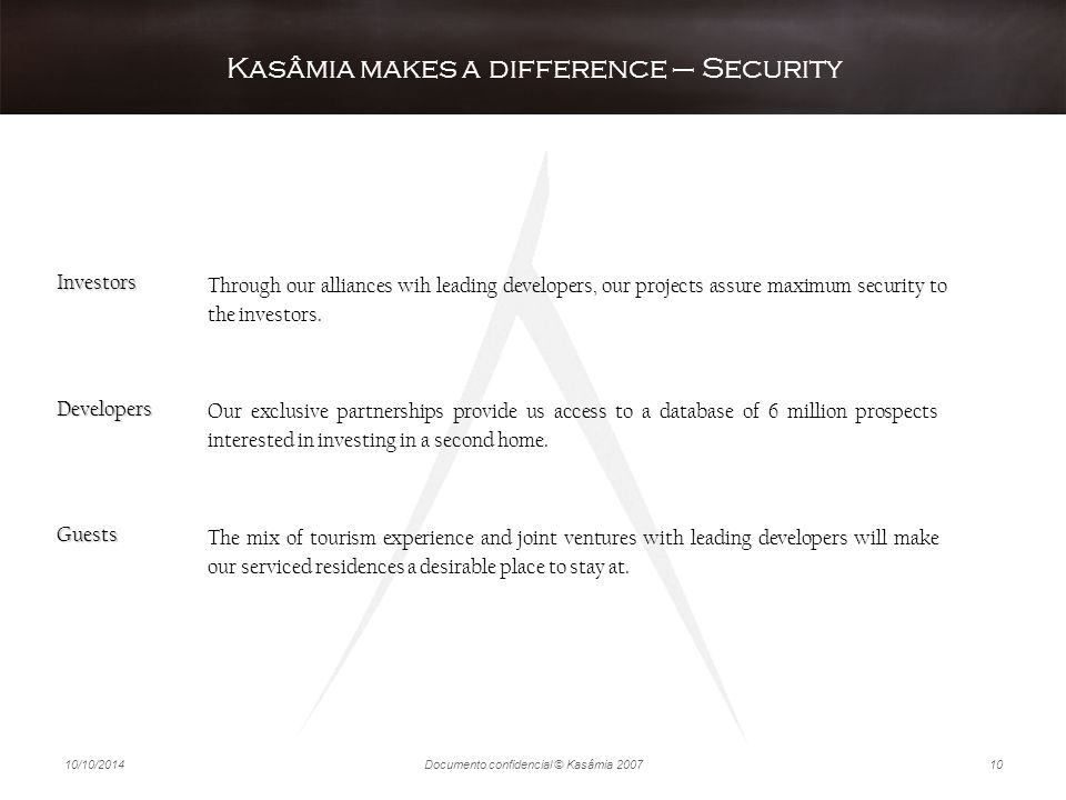Kasâmia makes a difference – Security
