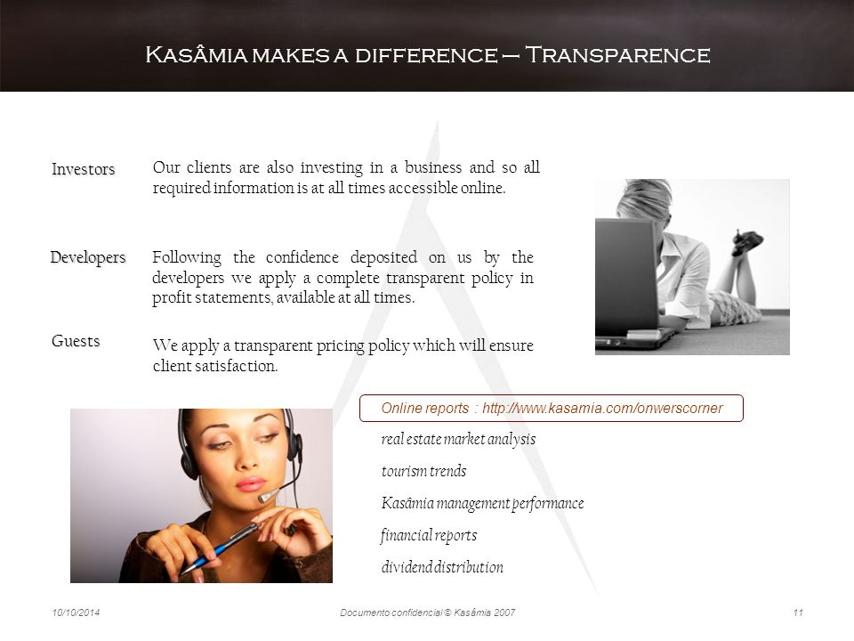 Kasâmia makes a difference – Transparence