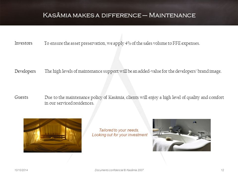 Kasâmia makes a difference – Maintenance