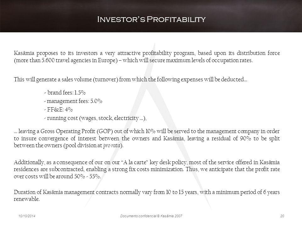 Investor's Profitability