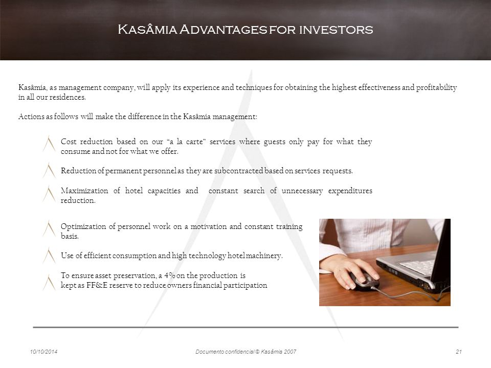 Kasâmia Advantages for investors