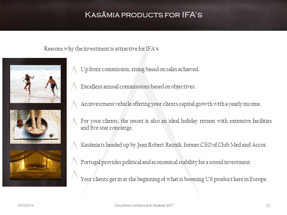 Kasâmia products for IFA's
