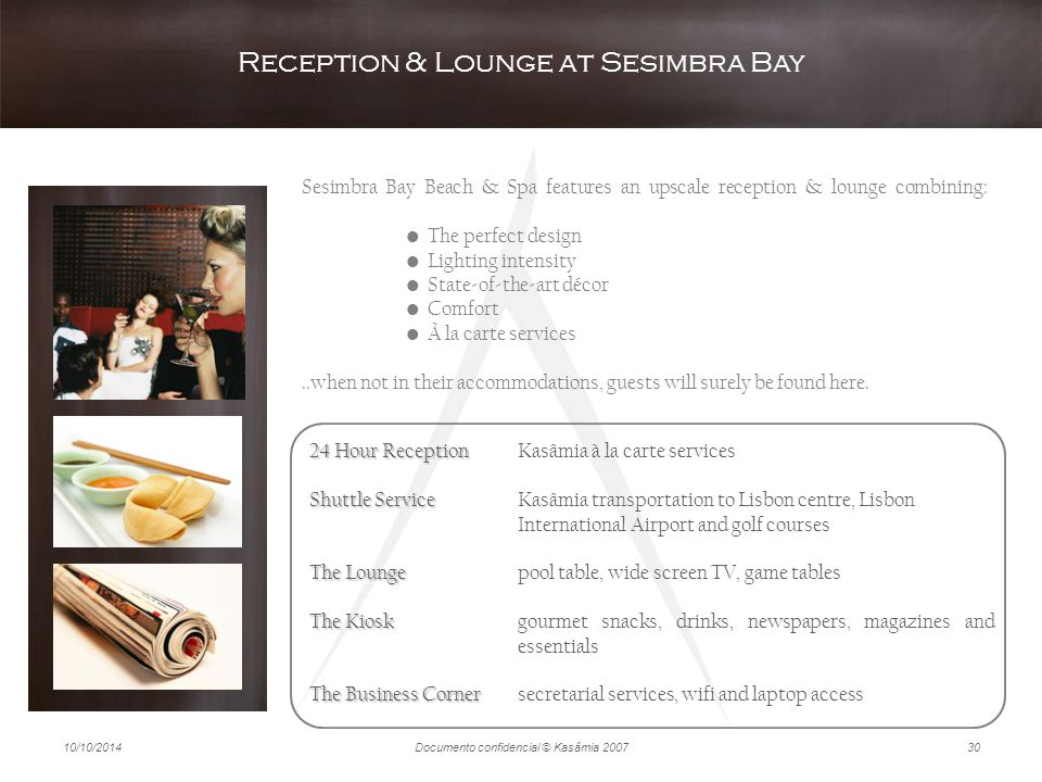 Reception & Lounge at Sesimbra Bay