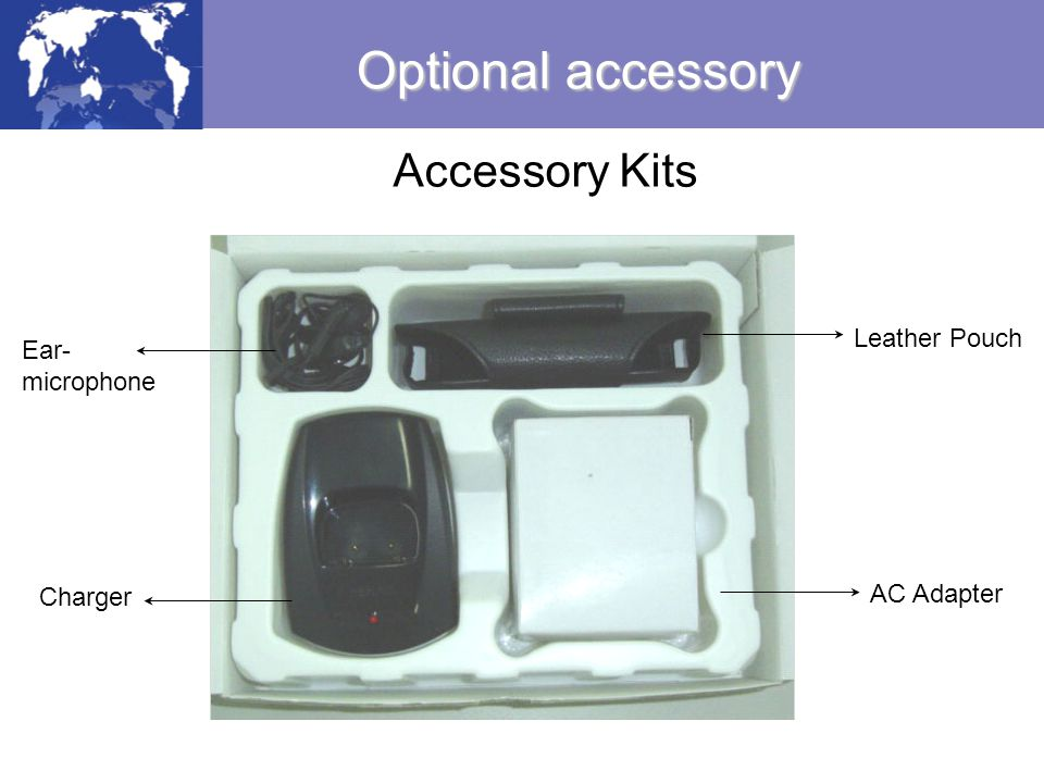 Optional accessory Accessory Kits Leather Pouch Ear- microphone