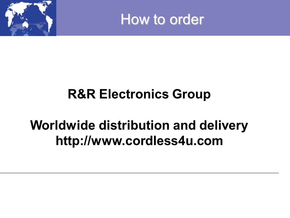 Worldwide distribution and delivery
