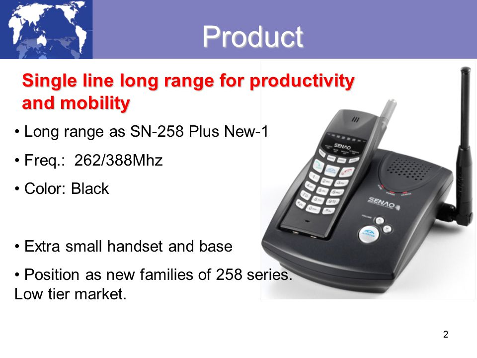 Product Single line long range for productivity and mobility