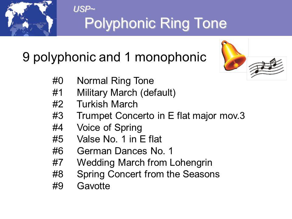 9 polyphonic and 1 monophonic