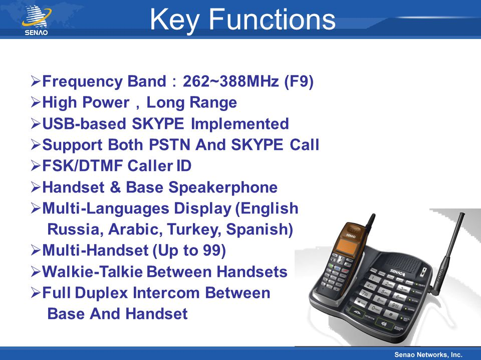 Key Functions Frequency Band:262~388MHz (F9) High Power,Long Range