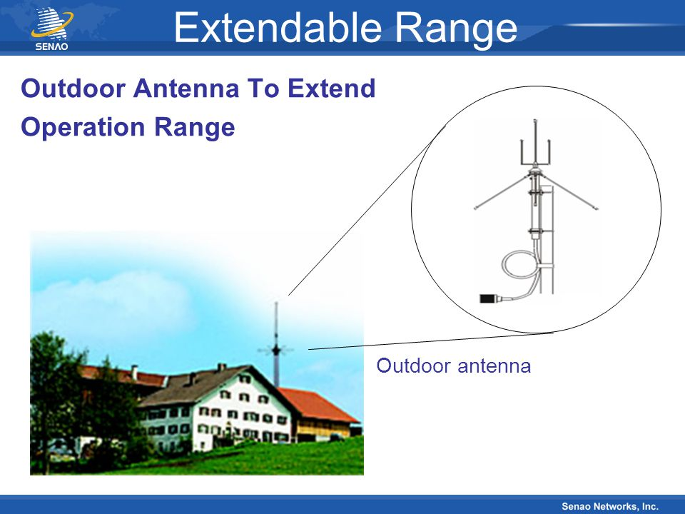 Extendable Range Outdoor Antenna To Extend Operation Range