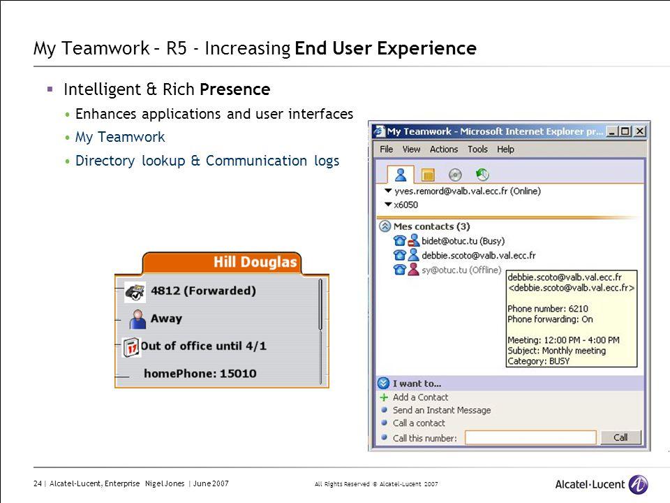 My Teamwork – R5 - Increasing End User Experience