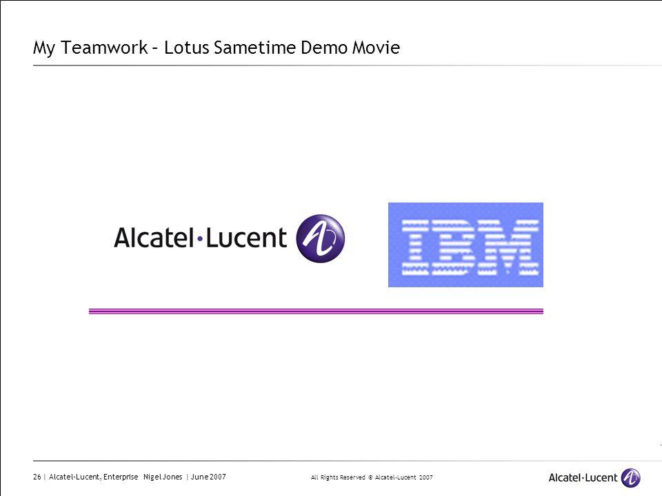 My Teamwork – Lotus Sametime Demo Movie