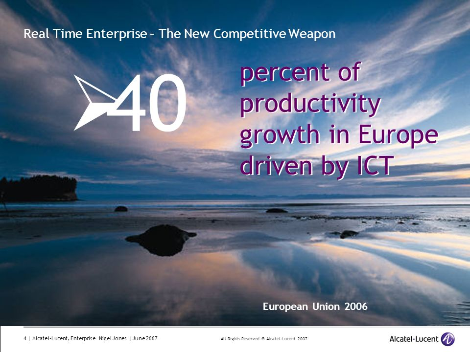 Real Time Enterprise – The New Competitive Weapon