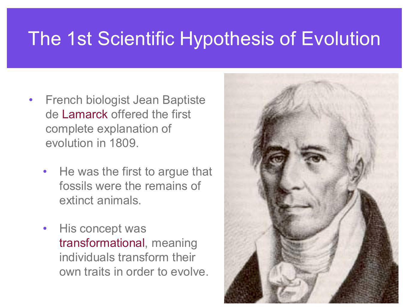 The 1st Scientific Hypothesis of Evolution