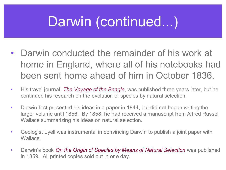 Darwin (continued...)
