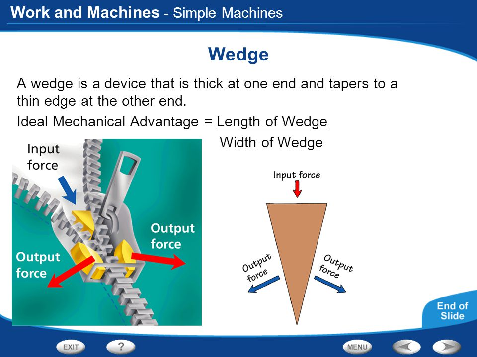 Wedge - Simple Machines
