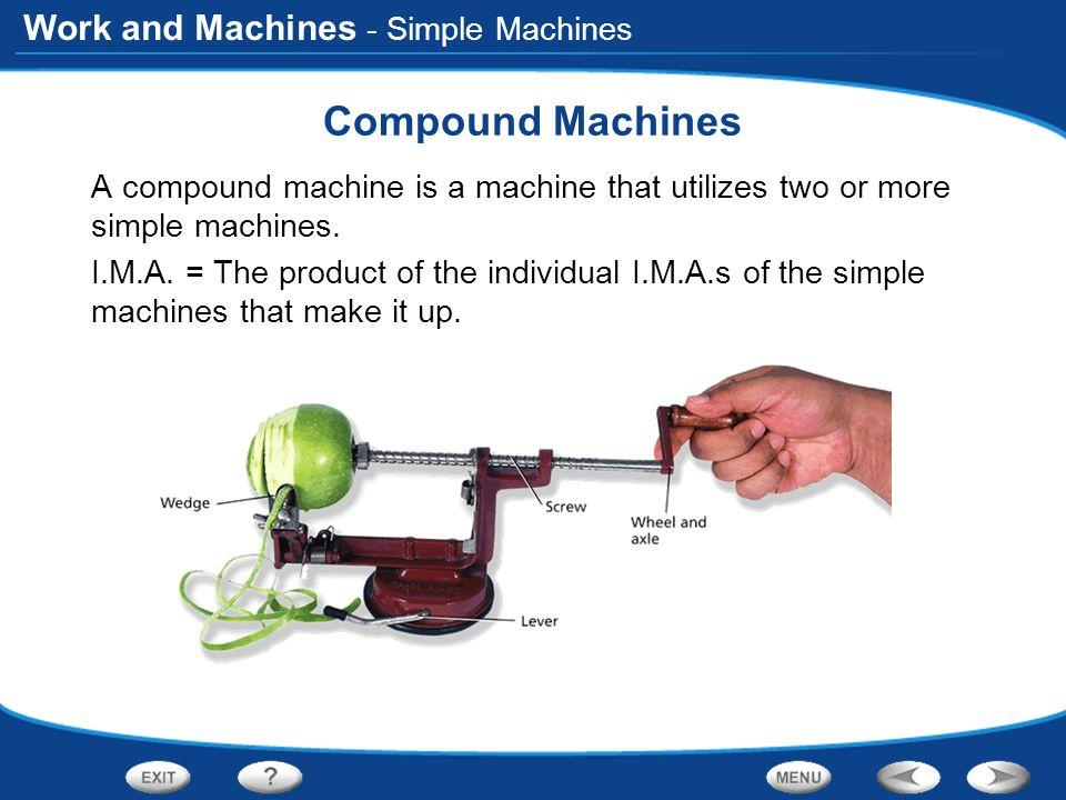 Compound Machines - Simple Machines