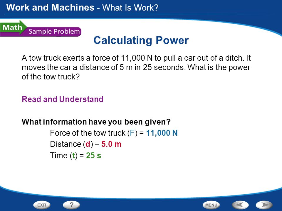 Calculating Power - What Is Work
