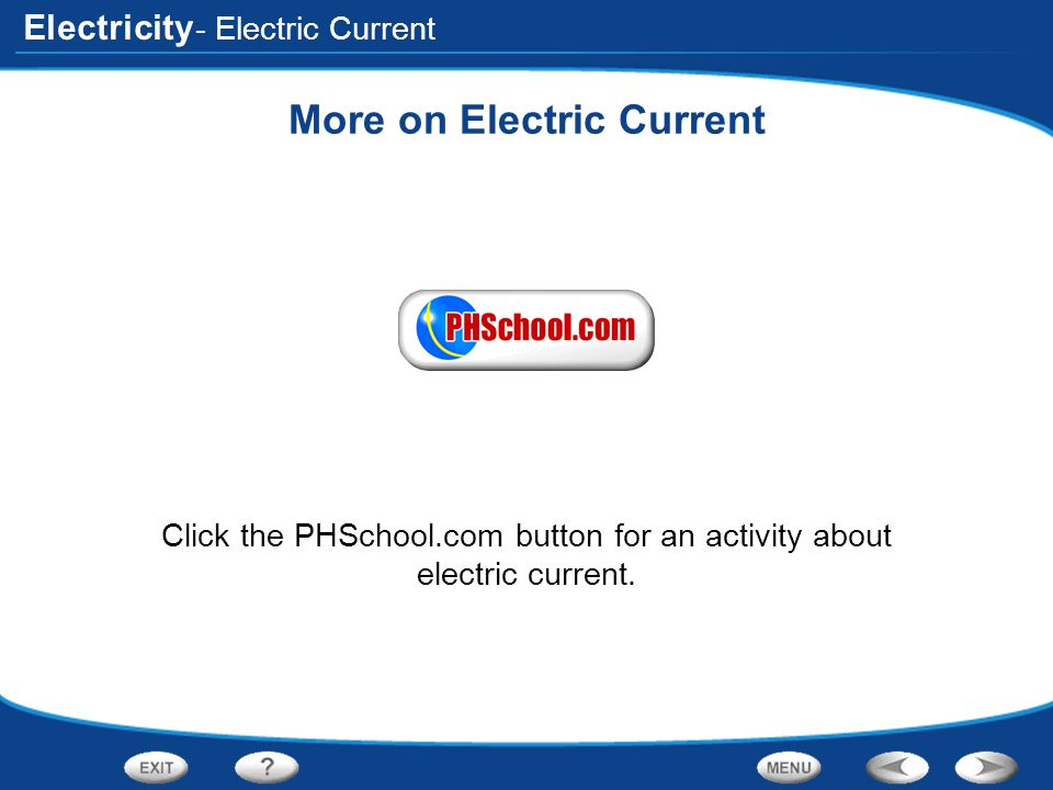 More on Electric Current