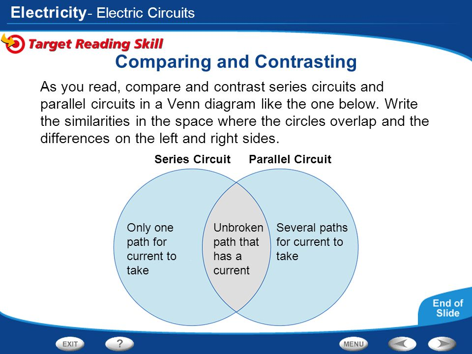 static and current electricity venn diagram acur lunamedia co rh acur lunamedia co Parallel vs Series Circuit Illustration Parallel Circuit Drawing