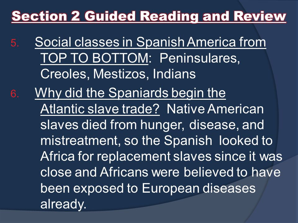 Section 2 Guided Reading and Review