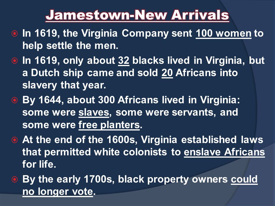 Jamestown-New Arrivals